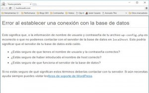 errores wordpress comunes conexion base de datos